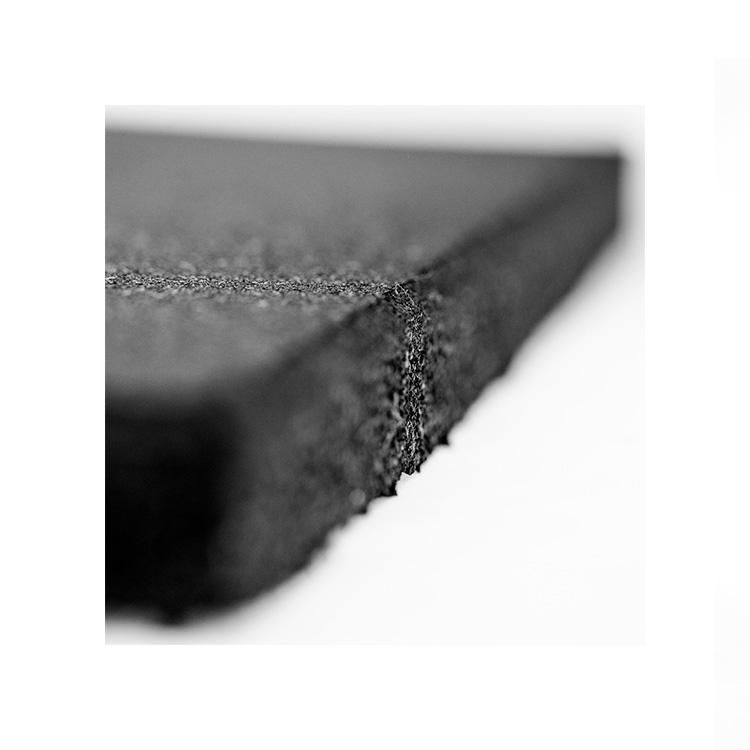 Dalle Caoutchoutee Noire En 100 X 100 X 15 Mm Depaisseur