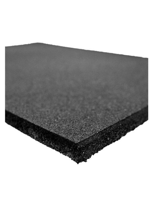 dalle caoutchoutée noire 100 x 100 x15 mm