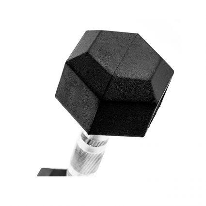 haltères hexagonales caoutchoutées