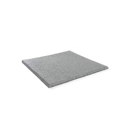 dalle caoutchoutee 15 mm gris